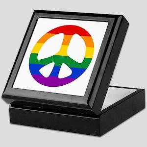 Rainbow Flag Peace Keepsake Box