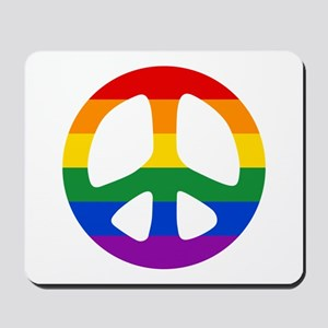 Rainbow Flag Peace Mousepad