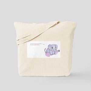 fibro elephant Tote Bag