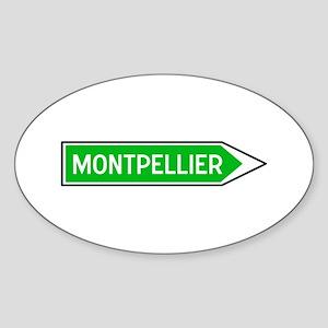 Roadmarker Montpellier - France Oval Sticker