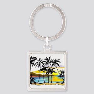 TROPICAL SUNSET Keychains