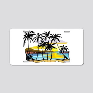 TROPICAL SUNSET Aluminum License Plate