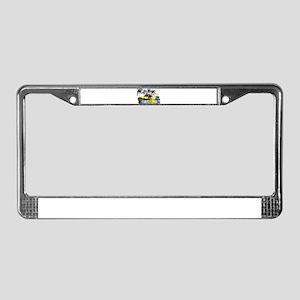 TROPICAL SUNSET License Plate Frame