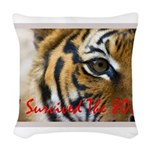 I Survived The 80s!! Woven Throw Pillow