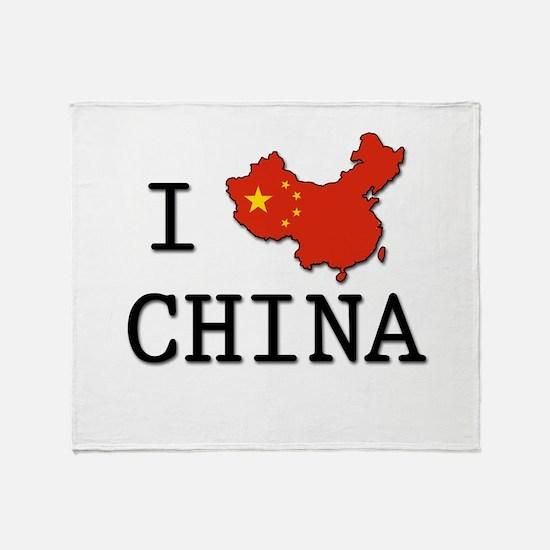 I Heart China Throw Blanket