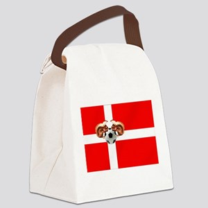 Danish Football Flag Canvas Lunch Bag