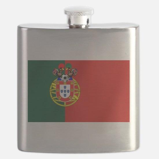 Portugal Football Flag Flask