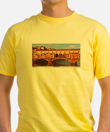 Florence - Morning at Ponte Vecchio- Pano.jpg T-Sh