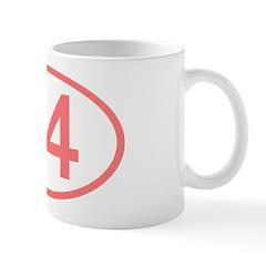 Number 74 Oval Mug