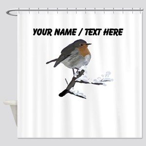 Custom Robin Shower Curtain