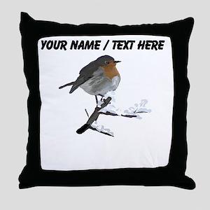 Custom Robin Throw Pillow