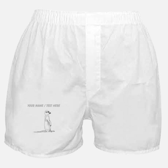 Custom Meerkat Boxer Shorts