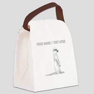 Custom Meerkat Canvas Lunch Bag