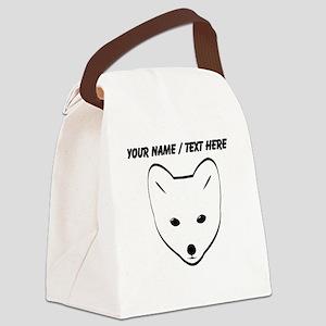 Custom Arctic Fox Canvas Lunch Bag