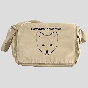 Custom Arctic Fox Messenger Bag