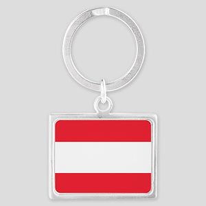 Flag of Austria Landscape Keychain