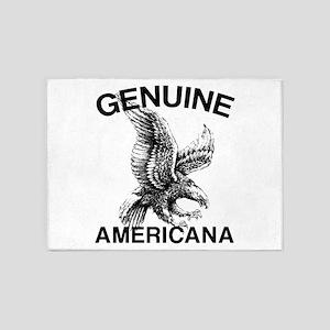 Genuine Americana 5'x7'Area Rug