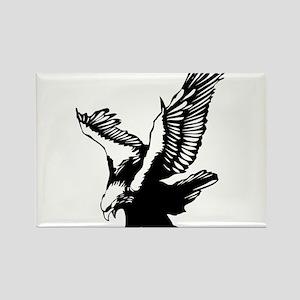 Black Eagle Rectangle Magnet