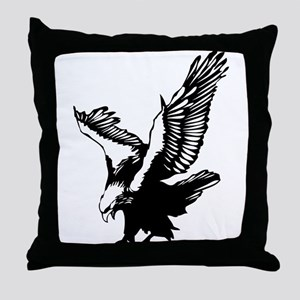 Black Eagle Throw Pillow