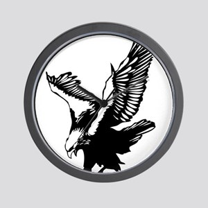 Black Eagle Wall Clock