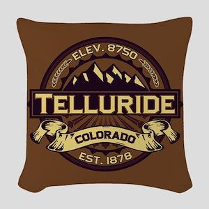 Telluride Sepia Woven Throw Pillow