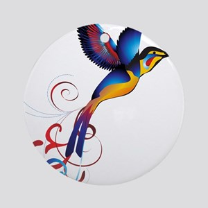 Colorful Hummingbird Ornament (Round)