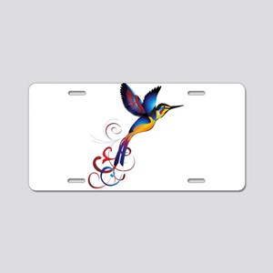 Colorful Hummingbird Aluminum License Plate