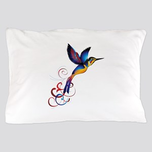 Colorful Hummingbird Pillow Case