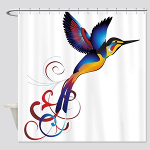 Colorful Hummingbird Shower Curtain