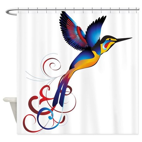 Attirant Colorful Hummingbird Shower Curtain