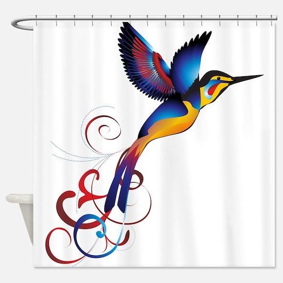 Colorful Hummingbird Shower Curtain