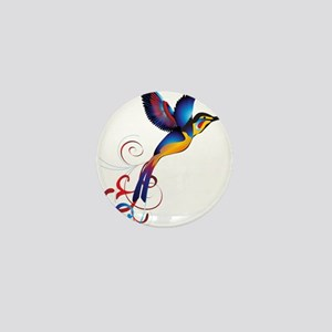 Colorful Hummingbird Mini Button