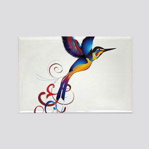 Colorful Hummingbird Rectangle Magnet