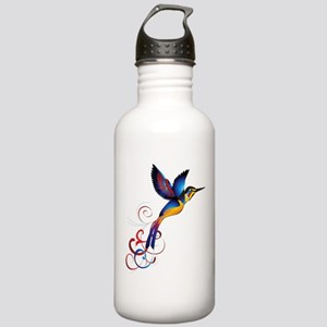 Colorful Hummingbird Water Bottle