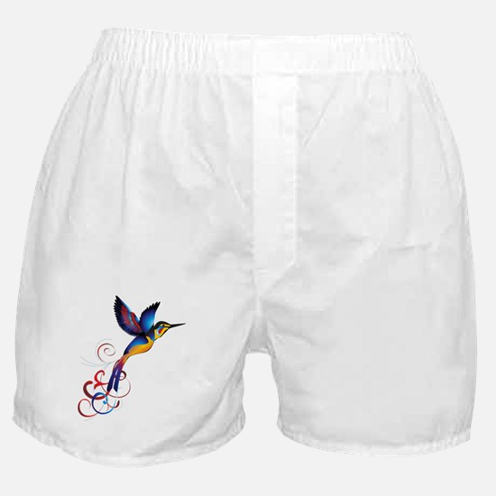 Colorful Hummingbird Boxer Shorts
