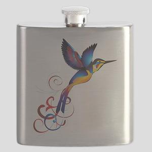 Colorful Hummingbird Flask