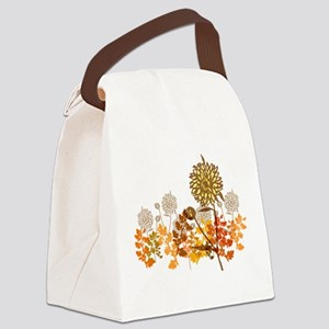 Autumn Crysanthemum Canvas Lunch Bag