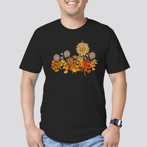 Autumn Crysanthemum Men's Fitted T-Shirt (dark)