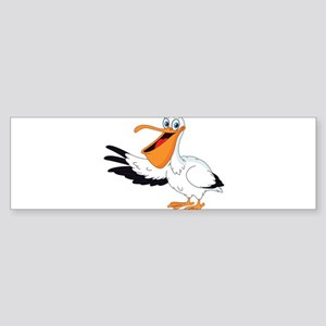 White Pelican Bumper Sticker