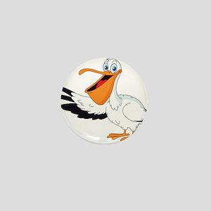 White Pelican Mini Button