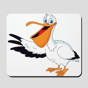 White Pelican Mousepad