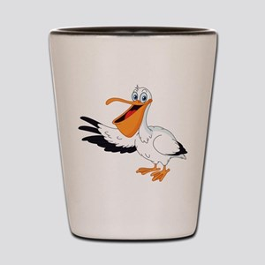 White Pelican Shot Glass