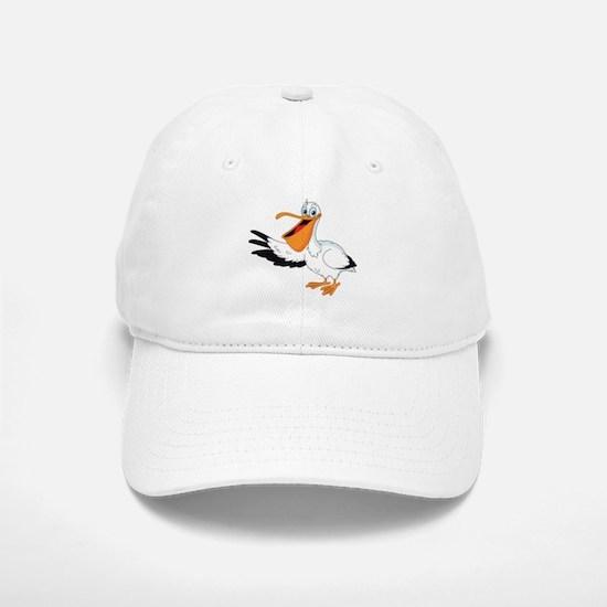 White Pelican Baseball Baseball Baseball Cap