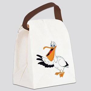 White Pelican Canvas Lunch Bag