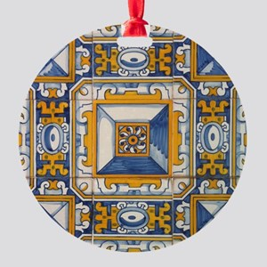 Azulejo Azul e Amarelo Ornament
