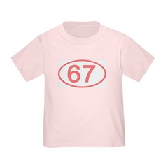 Number 67 Oval T
