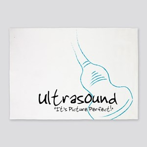 ultrasound transducer bluegreen 5'x7'Area Rug