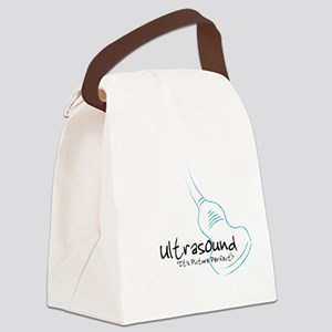 ultrasound transducer bluegreen Canvas Lunch Bag