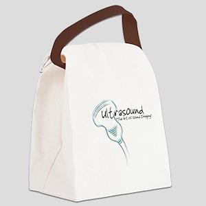 ultrasound transducer bluegreen 2 Canvas Lunch Bag