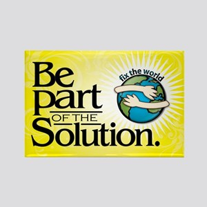 BE PART OF THE SOLUTION - Rectangle Magnet